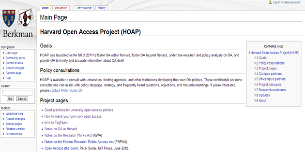 Harvard Open Access Project (HOAP)
