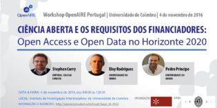 Workshop OpenAIRE Portugal – 4 de novembro 2016